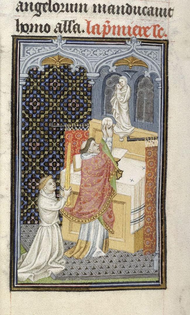 Священник совершает мессу. Ок. 1410-1419