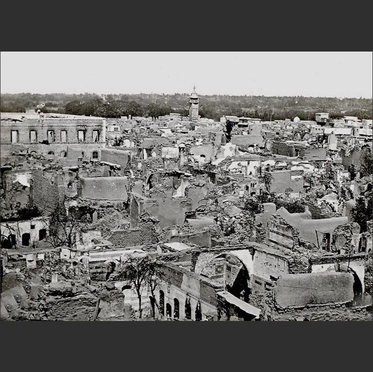Уничтоженный христианский квартал Дамаска. 1860