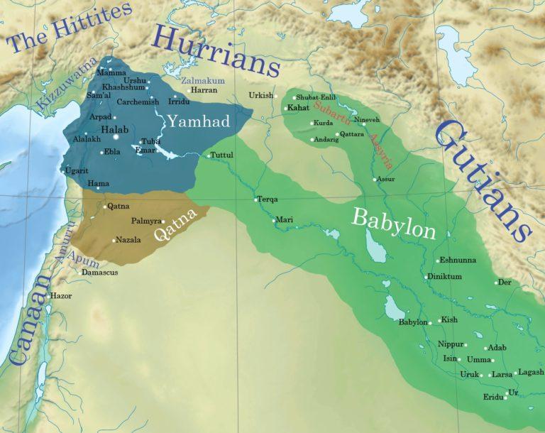 Ямхад, Катна и Старовавилонское царство. Ок. 1750 г. до н.э.