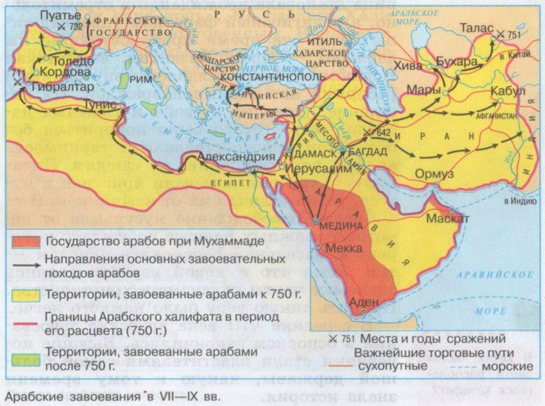 Завоевания арабов в VII–IX вв.