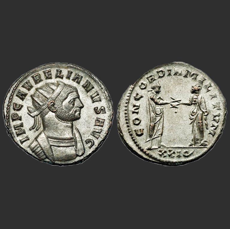 Антониниан с изображением Аврелиана. III в.