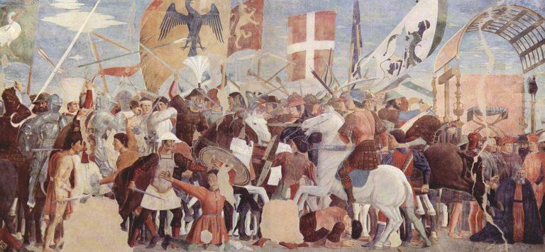 Битва между армией Ираклия и персами.1452–1466