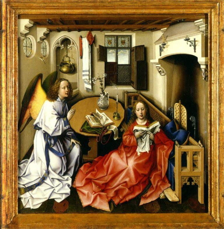 Благовещение. Центральная часть триптиха Мероде (Меродский алтарь). 1425–1427