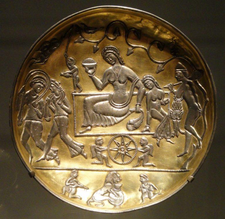 Блюдо. Сасанидский Иран, V–VII вв.