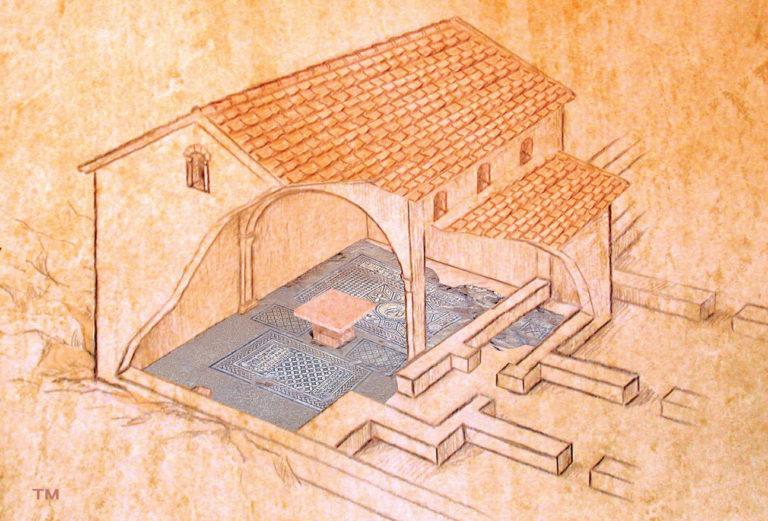 Дом собрания с престолом. III в.