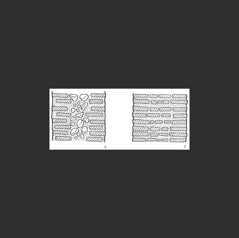 Два типа древнерусской кирпичной кладки