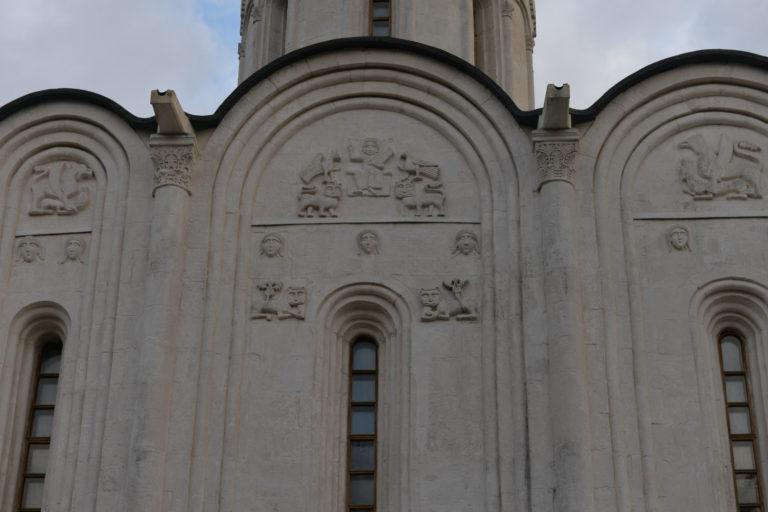 Фрагмент фасада храма Покрова на Нерли