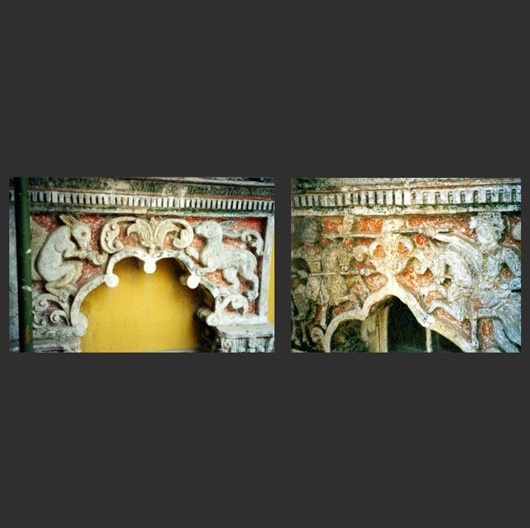 Фрагменты белокаменной резьбы на фасадах Потешного дворца