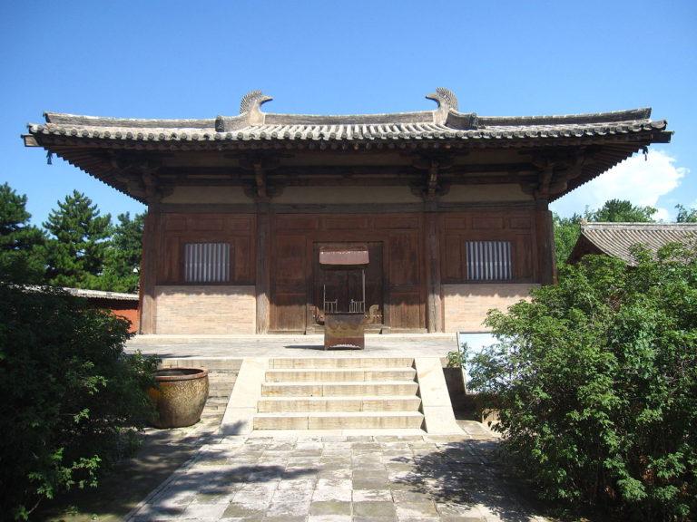Главный зал храма Нанчань. 782