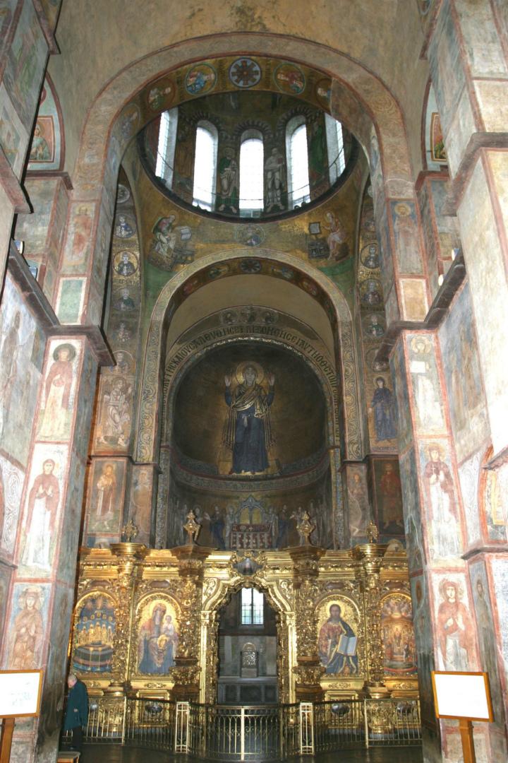 Интерьер собора Святой Софии, Киев