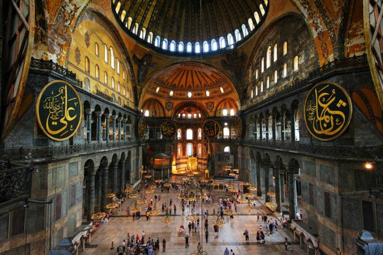 Интерьер собора Святой Софии, Стамбул