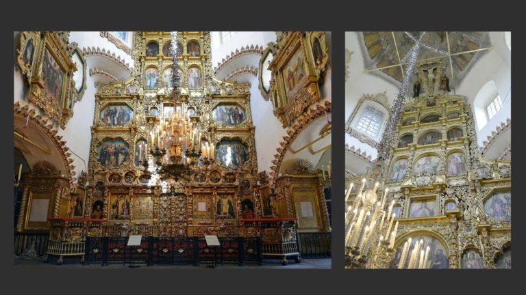 Интерьер церкви Покрова в Филях