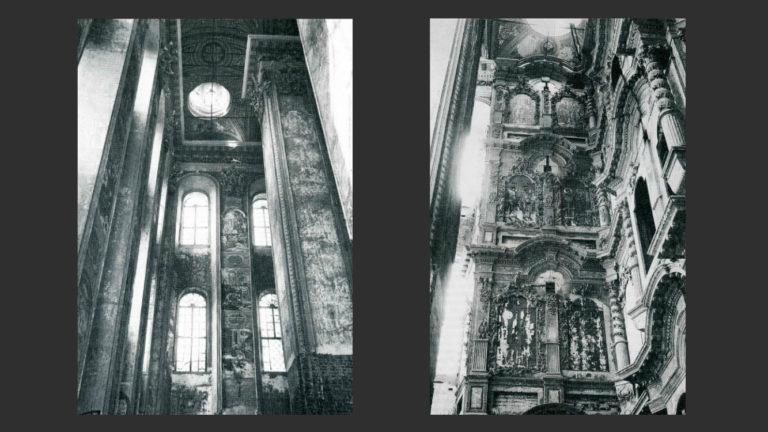 Интерьер церкви Рождества Богородицы