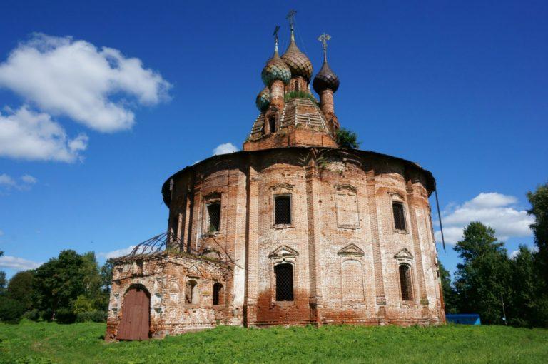 Казанская церковь, вид с юго-запада. 1770