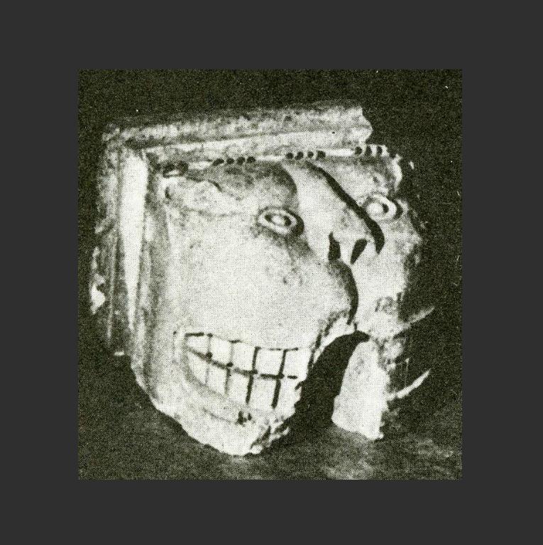 Консоль храма Святого Димитрия или храма Спаса на Бору в Московском Кремле. Кон. XIII в. – I пол. XIV в.