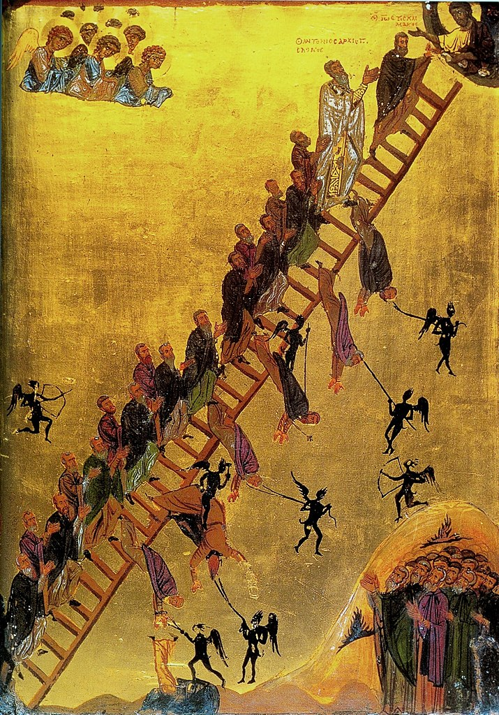 Лествица Иоанна Лествичника. Икона кон. XII в.