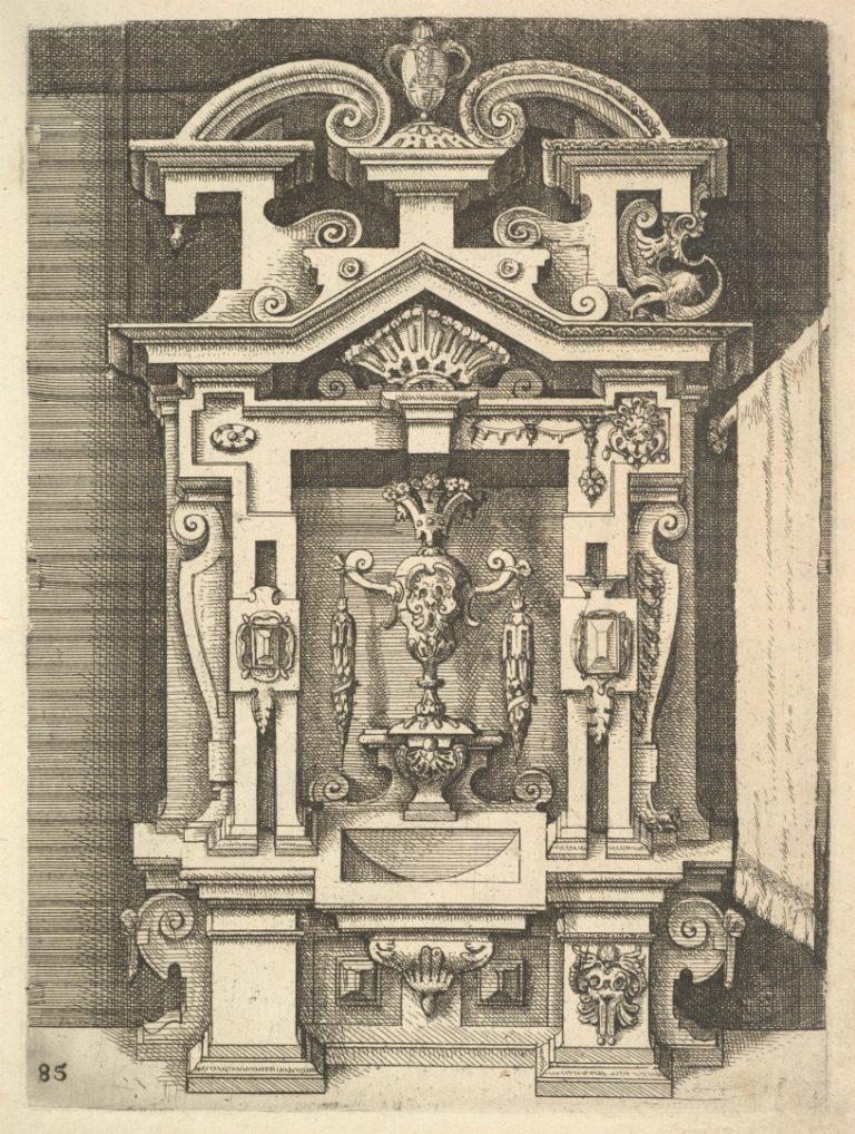 Лист из трактата «Архитектура». 1598