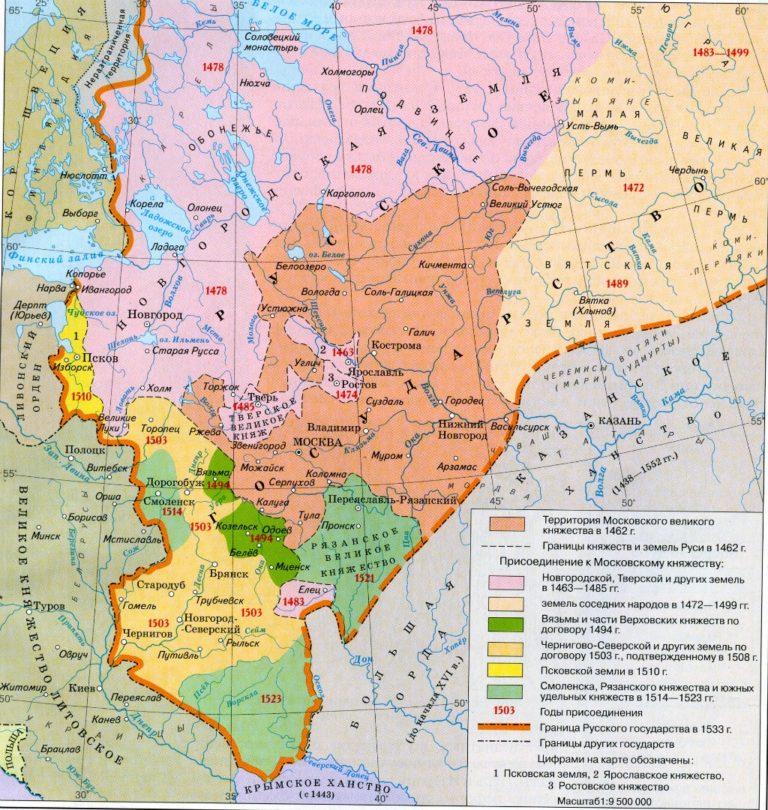 Московское княжество и объединение русских земель в XIV–XV вв.