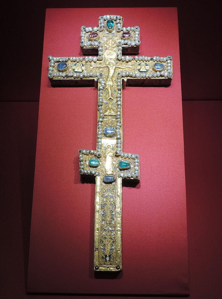 Напрестольный крест Бориса Годунова. Москва, мастерские Кремля, 1598–1599