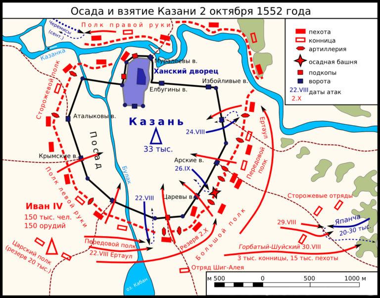 Осада и взятие Казани 2 октября 1552 г.