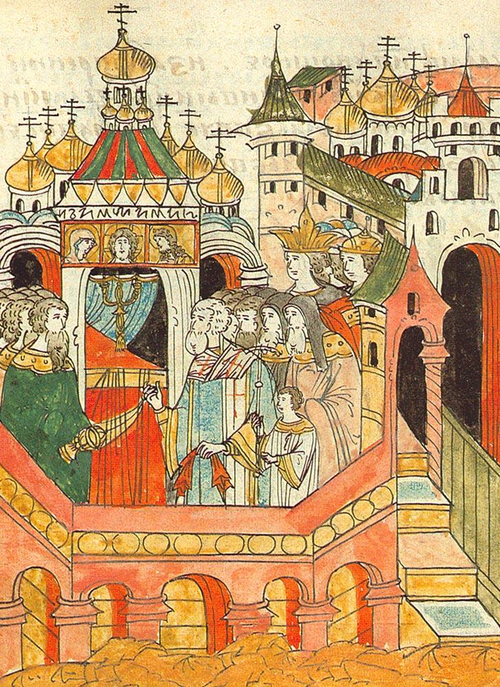 Освящение собора Покрова на Рву. 1568–1576
