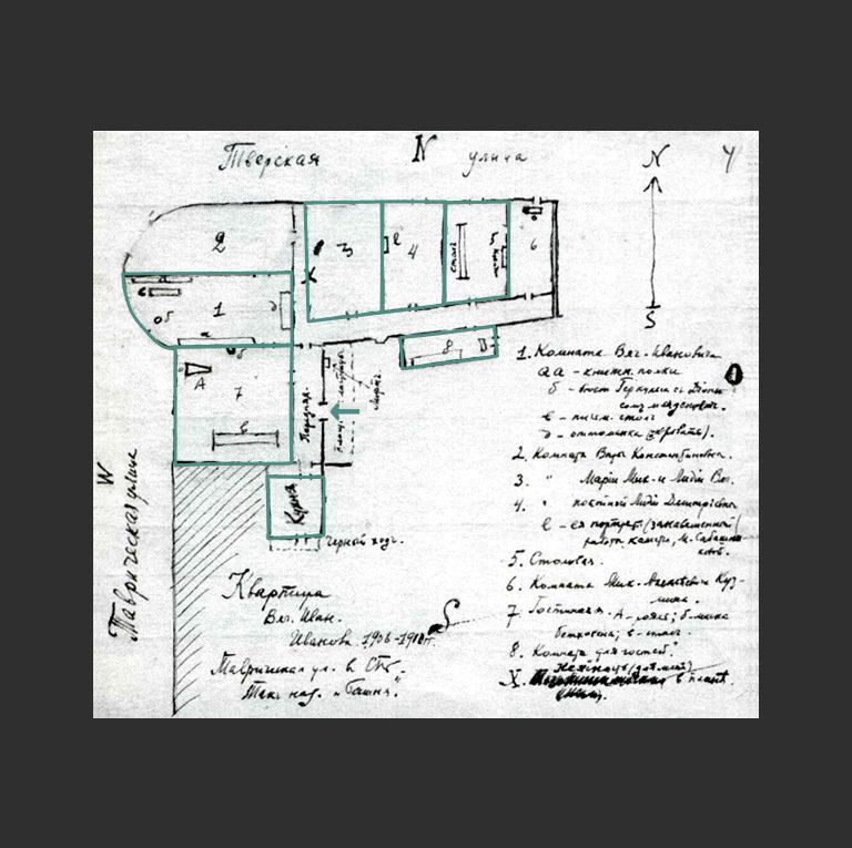 План «Башни», нарисованный одним из гостей