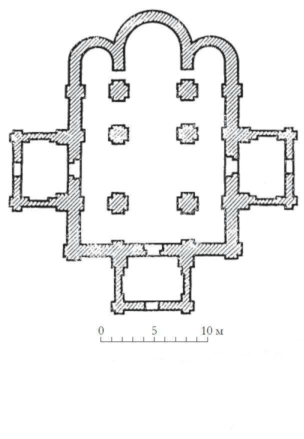 План Большого собора Бельчицкого монастыря в Полоцке. XII в.