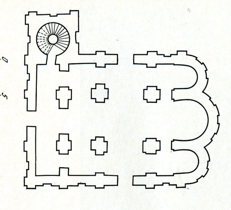 План Георгиевского собора Юрьева монастыря в Новгороде