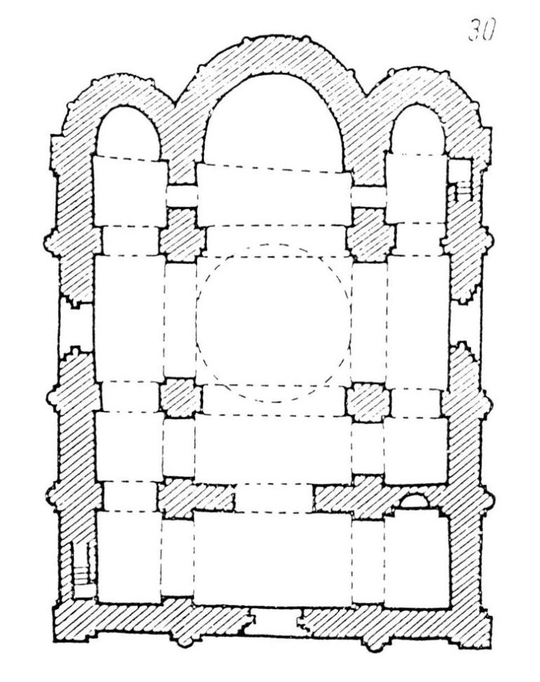 План Кирилловской церкви в Киеве. 1140-е