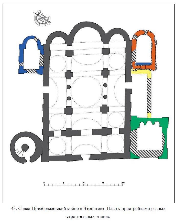 План Спасо-Преображенского собора в Чернигове