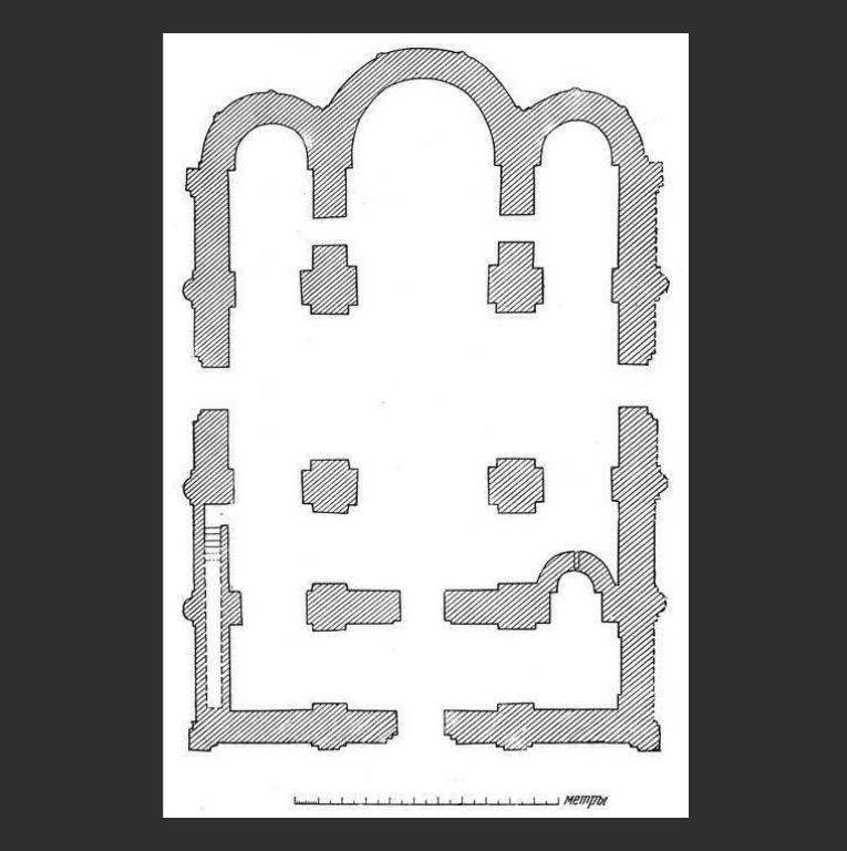 План Успенского собора Елецкого Успенского монастыря в Чернигове