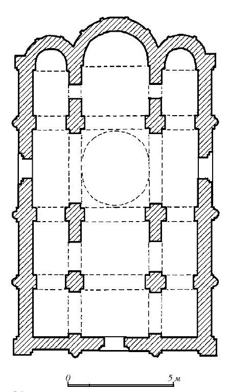 План Успенского собора во Владимире-Волынском. 1156–1160