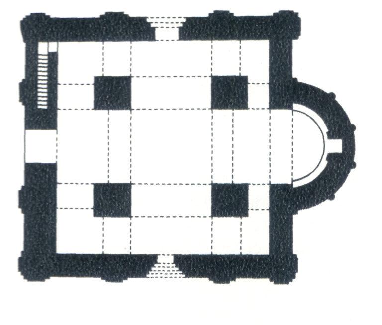 План храма Спаса Преображения на Ильине улице в Новгороде. 1374