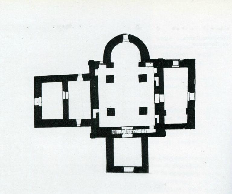 План храма Спаса Преображения на Ковалёве. 1345
