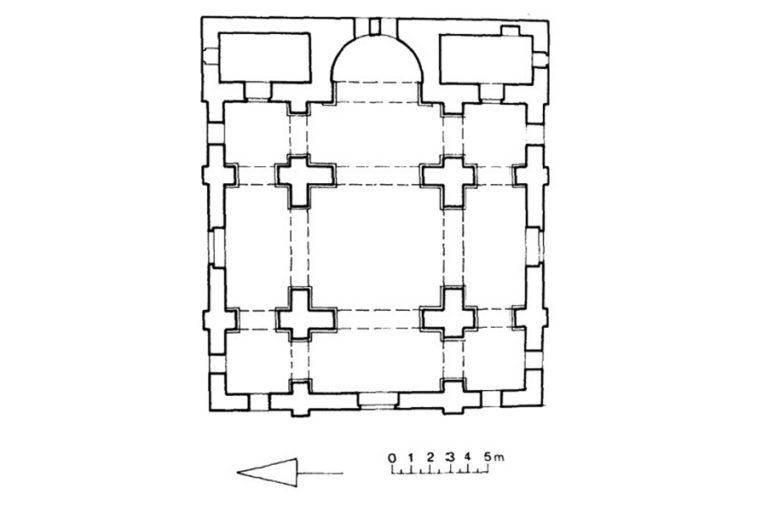План храма аль-Мундира ибн аль-Хариса в Ресафе