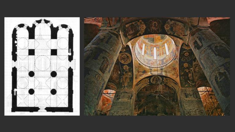 План и интерьер Троицкого собора. Ок. 1655–1664