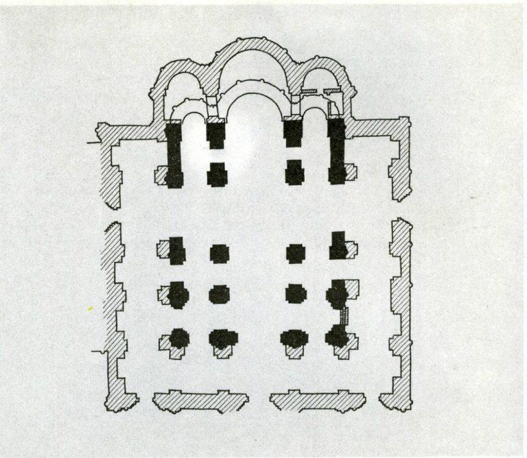 План перестройки Успенского собора во Владимире. 1186–1189
