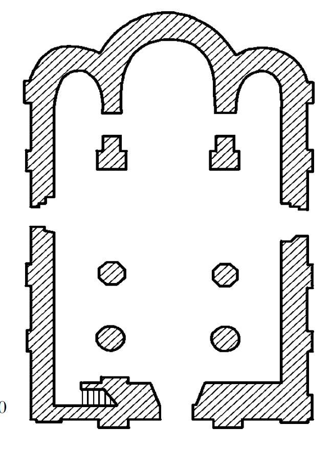 План собора Иоанна Предтечи в Пскове. Ок. 1137–1142