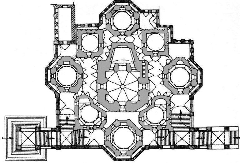 План собора Покрова на Рву в Москве. 1555–1561