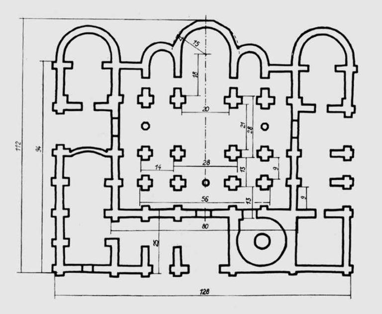 План собора Святой Софии в Новгороде