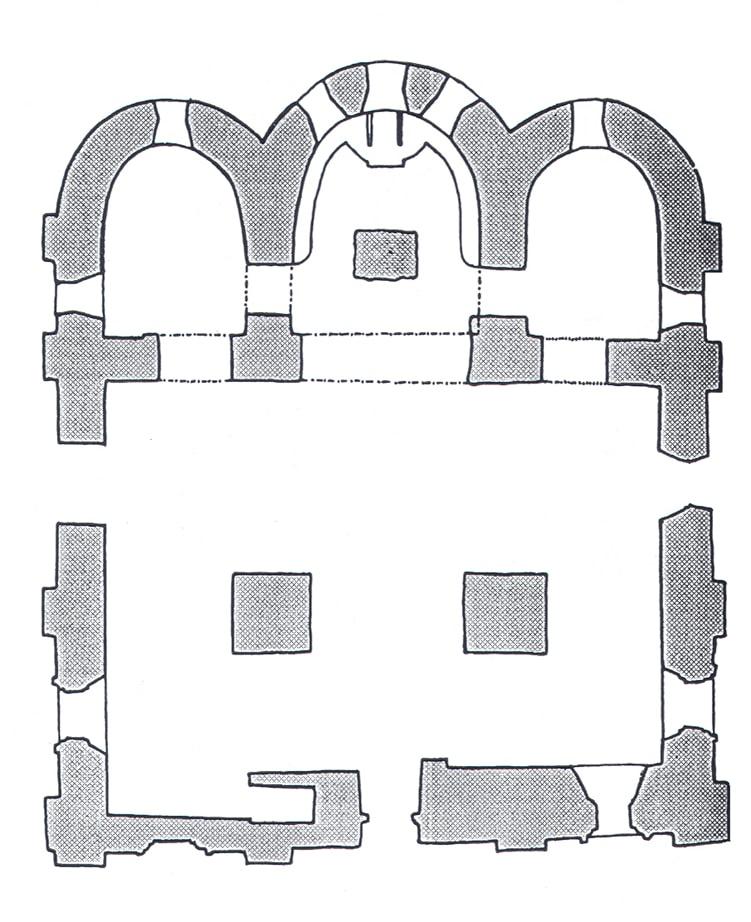 План церкви Благовещения в Аркажах. 1179