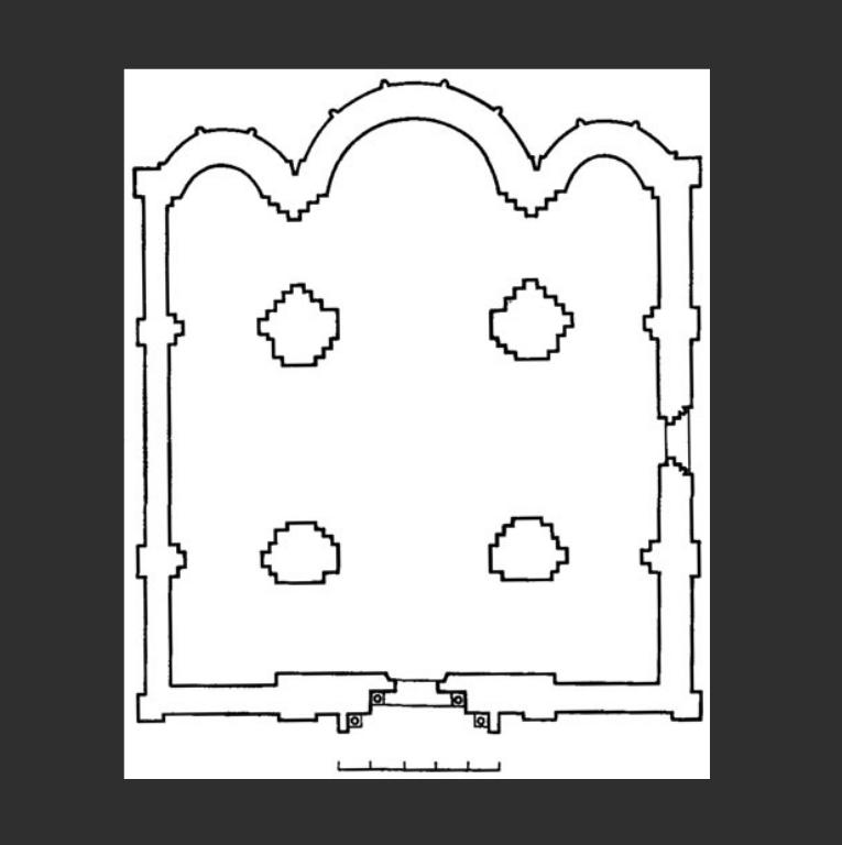 План церкви Святого Пантелеймона в Галиче. 1194