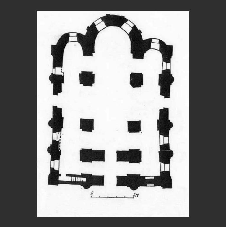 План церкви Успения Богородицы Пирогощи в Киеве. 1132–1136