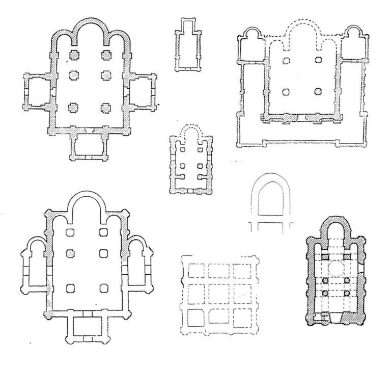 Планы храмов Полоцка