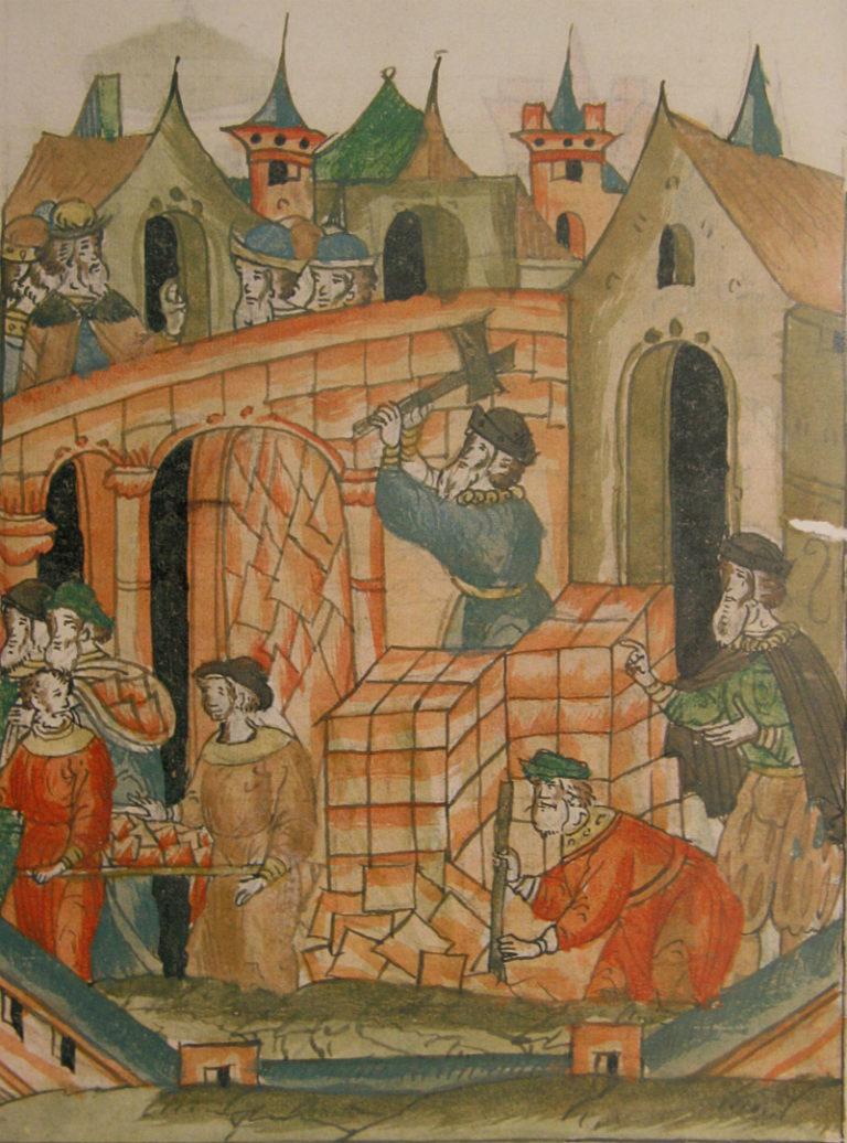 Разбор обрушившихся стен Успенского собора. 1568–1576