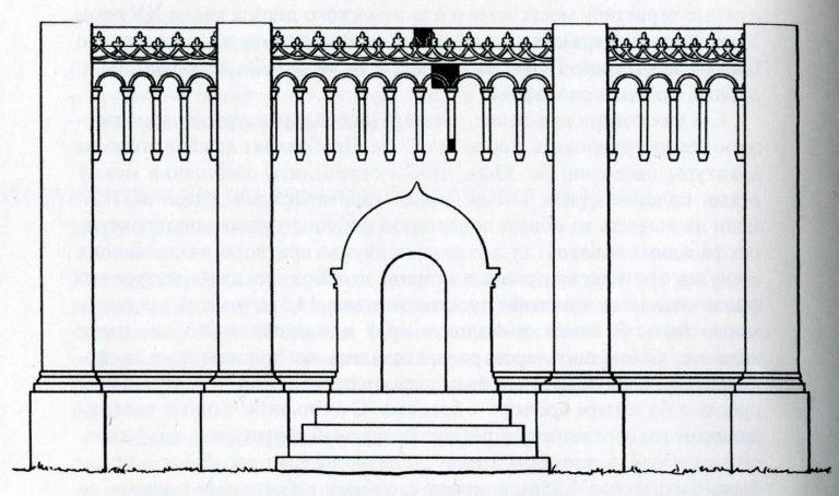 Реконструкция фасада Успенского собора Московского Кремля. 1326–1327