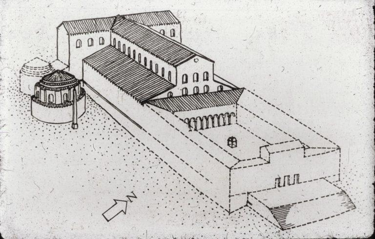 Реконструкция общего вида базилики св. Петра в Риме