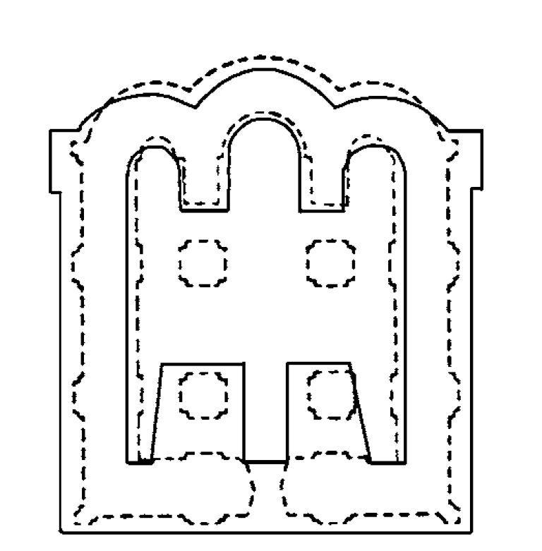 Реконструкция плана собора в Звенигороде на р. Белке. 1140-е