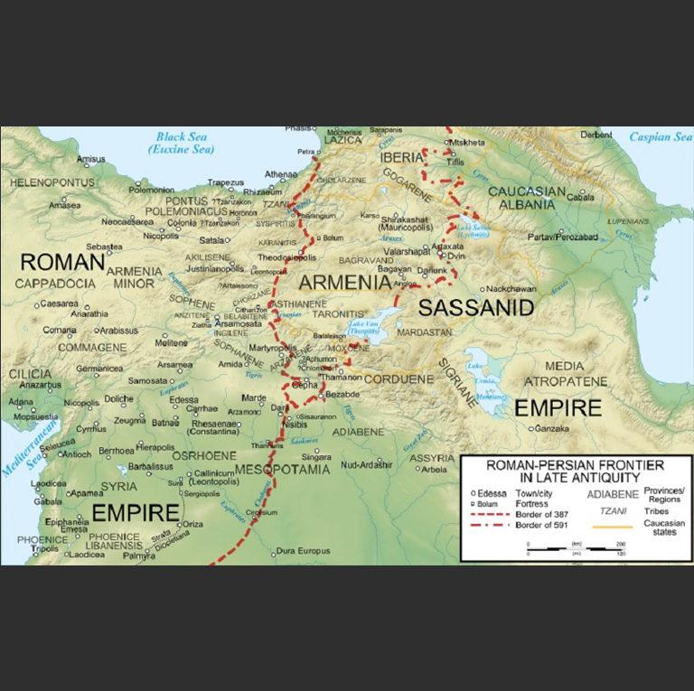 Римско-персидская граница по договору 387 г. и 591 г.