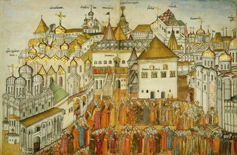 Шествие в Успенский собор. 1672